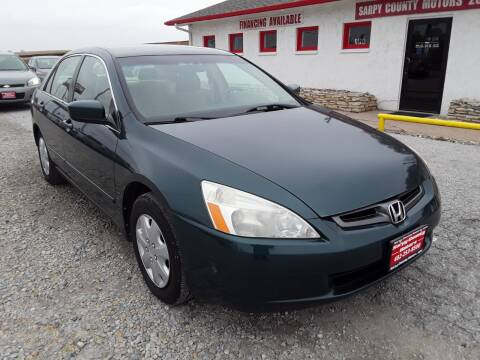 2003 Honda Accord for sale at Sarpy County Motors in Springfield NE