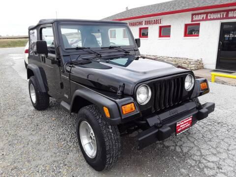 2002 Jeep Wrangler for sale at Sarpy County Motors in Springfield NE