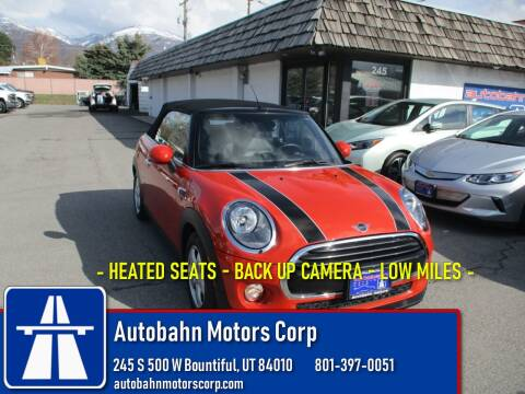2019 MINI Convertible Cooper for sale at Autobahn Motors Corp in Bountiful UT