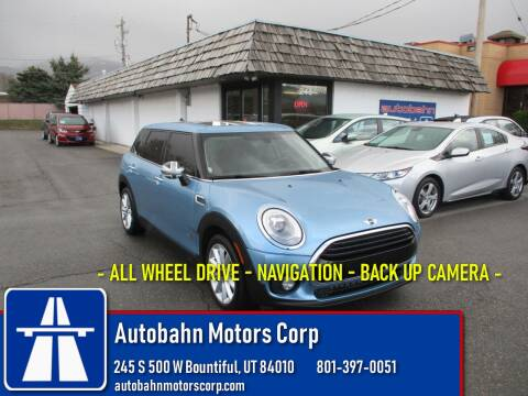 2017 MINI Clubman Cooper ALL4 for sale at Autobahn Motors Corp in Bountiful UT
