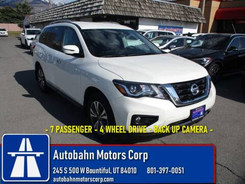 2017 Nissan Pathfinder SV for sale at Autobahn Motors Corp in Bountiful UT
