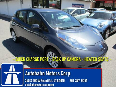 2013 Nissan LEAF S for sale at Autobahn Motors Corp in Bountiful UT