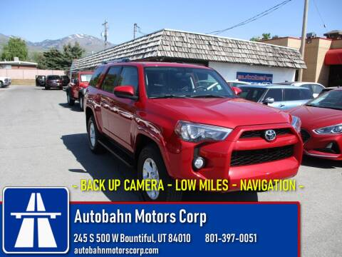 2019 Toyota 4Runner SR5 for sale at Autobahn Motors Corp in Bountiful UT