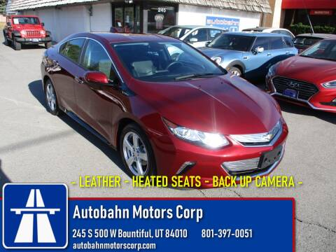 2017 Chevrolet Volt LT for sale at Autobahn Motors Corp in Bountiful UT