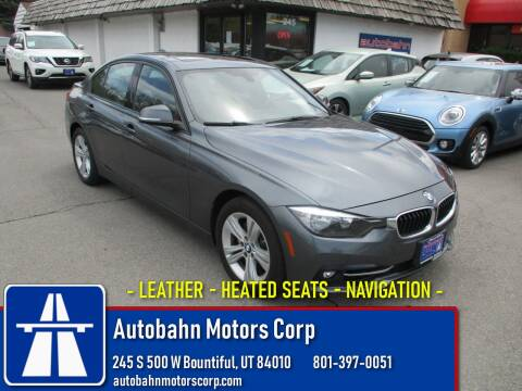 2016 BMW 3 Series 328i xDrive for sale at Autobahn Motors Corp in Bountiful UT