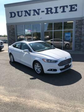 2013 Ford Fusion for sale at Dunn-Rite Auto Group in Kilmarnock VA