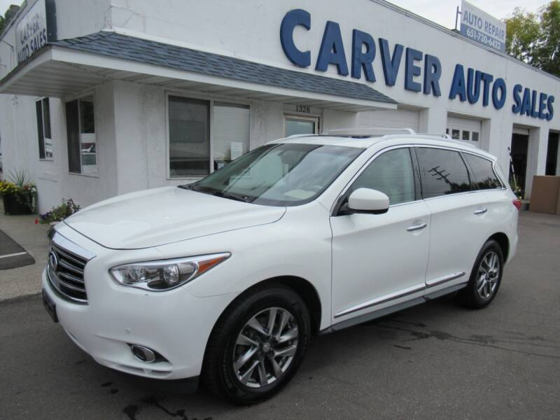 2013 Infiniti JX35 for sale at Carver Auto Sales in Saint Paul MN
