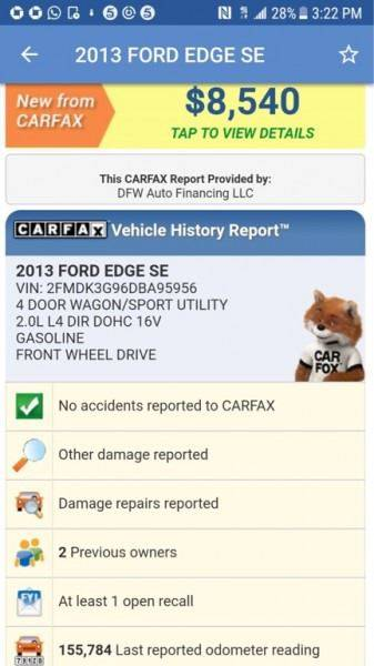 2013 Ford Edge SE 4dr Crossover - Dallas TX