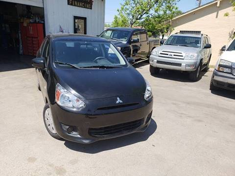 2015 Mitsubishi Mirage for sale at DFW AUTO FINANCING LLC in Dallas TX