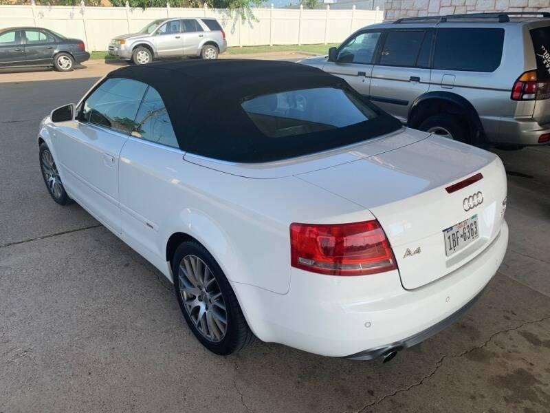 2009 Audi A4 AWD 2.0T quattro 2dr Convertible 6A - Dallas TX