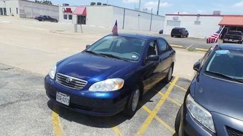 2006 Toyota Corolla for sale at DFW AUTO FINANCING LLC in Dallas TX