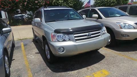 2002 Toyota Highlander for sale at DFW AUTO FINANCING LLC in Dallas TX