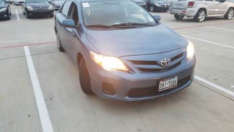 2012 Toyota Corolla for sale at DFW AUTO FINANCING LLC in Dallas TX
