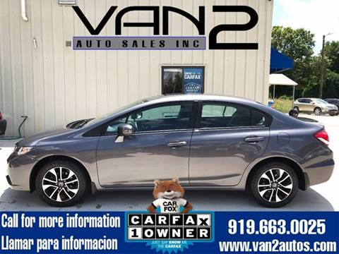 2014 Honda Civic for sale at Van 2 Auto Sales Inc. in Siler City NC