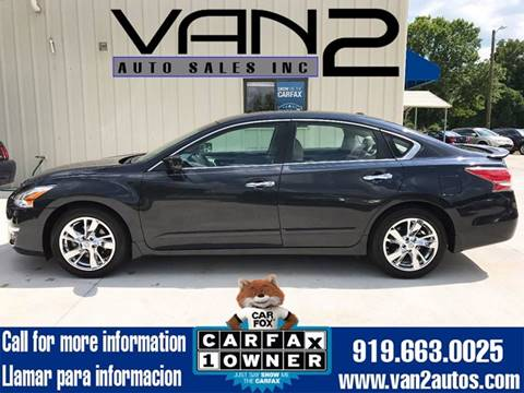 2014 Nissan Altima for sale at Van 2 Auto Sales Inc. in Siler City NC