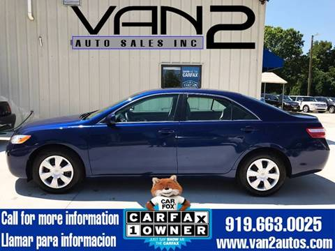 2009 Toyota Camry for sale at Van 2 Auto Sales Inc. in Siler City NC