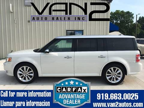 2010 Ford Flex for sale at Van 2 Auto Sales Inc. in Siler City NC
