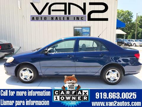 2008 Toyota Corolla for sale at Van 2 Auto Sales Inc. in Siler City NC