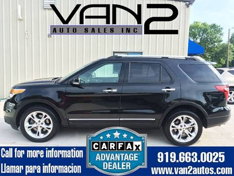 2014 Ford Explorer for sale at Van 2 Auto Sales Inc. in Siler City NC