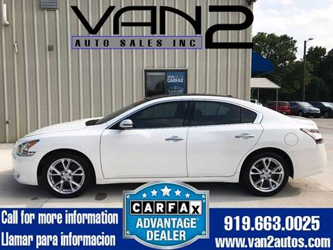 2012 Nissan Maxima for sale at Van 2 Auto Sales Inc. in Siler City NC
