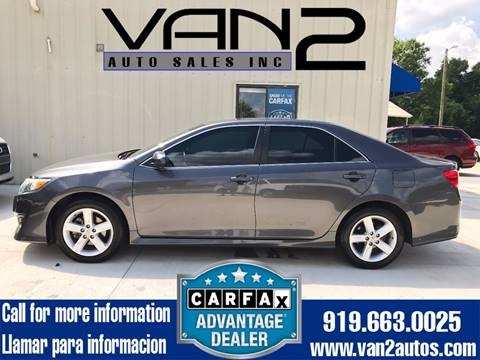 2013 Toyota Camry for sale at Van 2 Auto Sales Inc. in Siler City NC