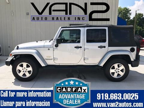 2009 Jeep Wrangler Unlimited for sale at Van 2 Auto Sales Inc. in Siler City NC