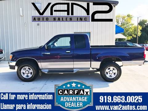 1998 Toyota T100 for sale at Van 2 Auto Sales Inc. in Siler City NC