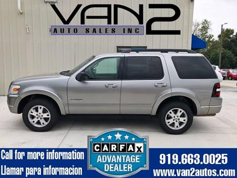 2008 Ford Explorer for sale at Van 2 Auto Sales Inc. in Siler City NC