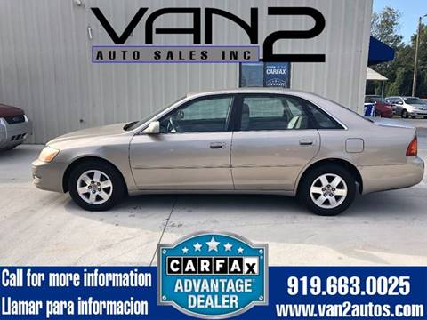 2002 Toyota Avalon for sale at Van 2 Auto Sales Inc. in Siler City NC