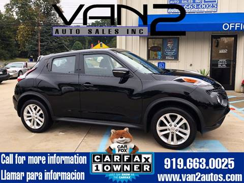 2015 Nissan JUKE for sale at Van 2 Auto Sales Inc. in Siler City NC