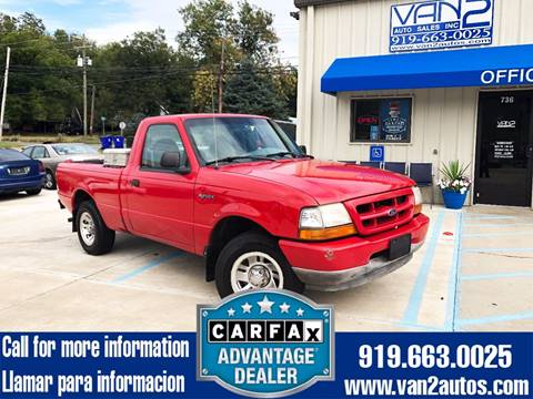 1999 Ford Ranger for sale at Van 2 Auto Sales Inc. in Siler City NC