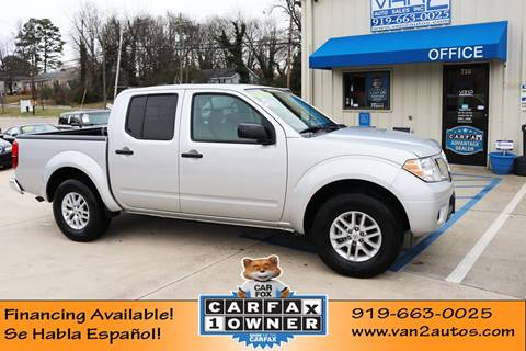 2019 Nissan Frontier SV for sale at Van 2 Auto Sales Inc in Siler City NC