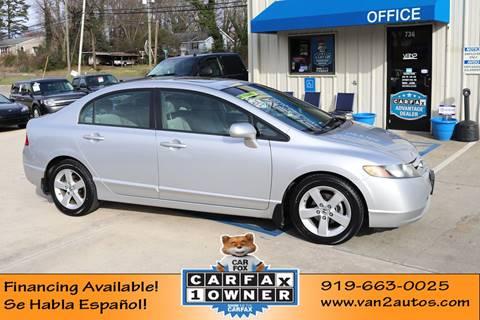 2008 Honda Civic EX for sale at Van 2 Auto Sales Inc in Siler City NC