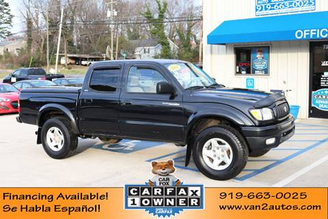 2001 Toyota Tacoma Prerunner for sale at Van 2 Auto Sales Inc in Siler City NC
