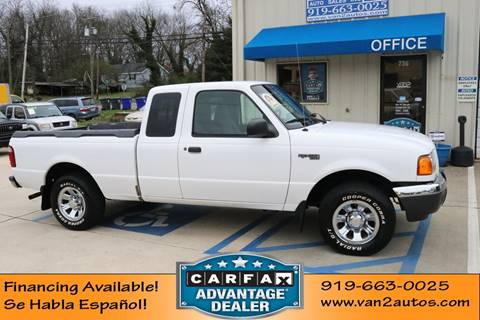 2001 Ford Ranger XLT for sale at Van 2 Auto Sales Inc in Siler City NC
