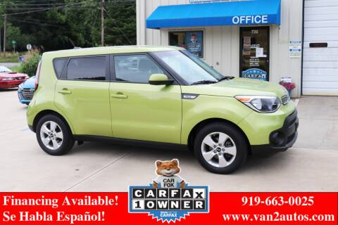 2017 Kia Soul for sale at Van 2 Auto Sales Inc in Siler City NC
