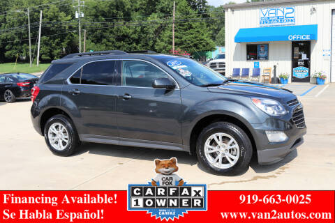 2017 Chevrolet Equinox for sale at Van 2 Auto Sales Inc in Siler City NC