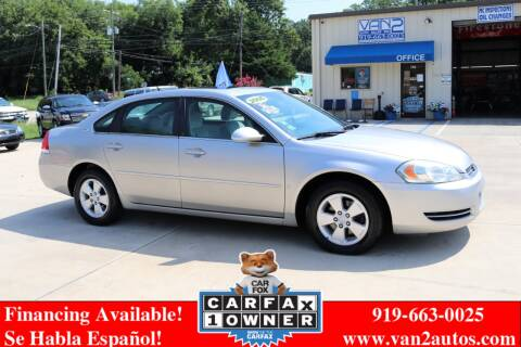 2006 Chevrolet Impala for sale at Van 2 Auto Sales Inc in Siler City NC