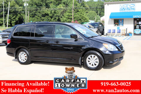 2010 Honda Odyssey for sale at Van 2 Auto Sales Inc in Siler City NC