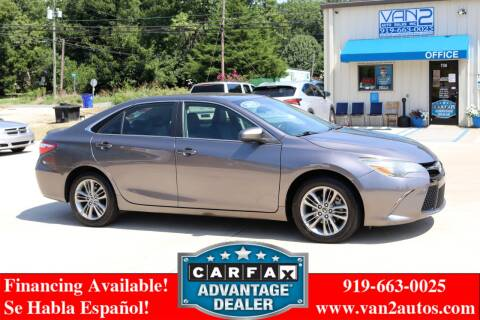 2015 Toyota Camry for sale at Van 2 Auto Sales Inc in Siler City NC