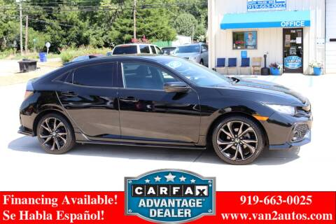 2017 Honda Civic for sale at Van 2 Auto Sales Inc in Siler City NC