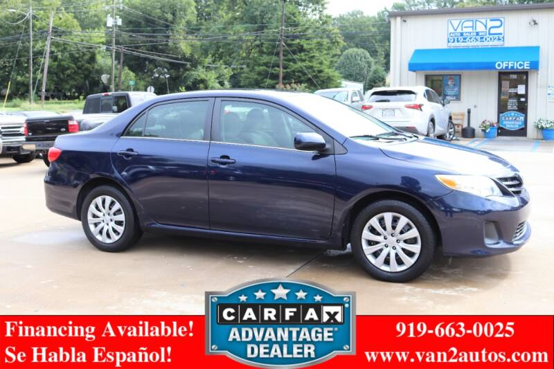 2013 Toyota Corolla for sale at Van 2 Auto Sales Inc in Siler City NC