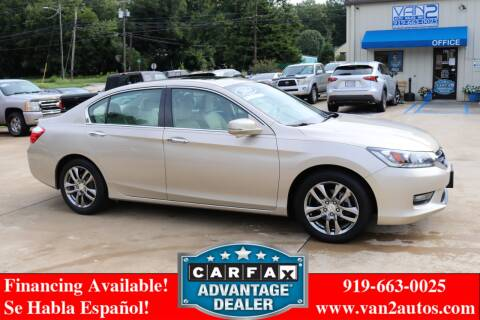 2014 Honda Accord for sale at Van 2 Auto Sales Inc in Siler City NC