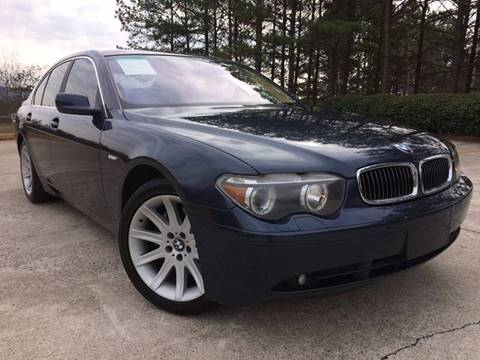 2003 BMW 7 Series for sale at Selective Cars - Second Lot in Woodstock GA