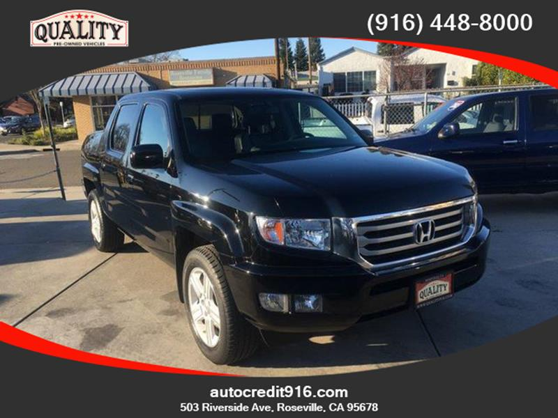 2013 Honda Ridgeline Rtl Pickup 4d 5 Ft In Roseville Ca Quality Pre Owned Vehicles