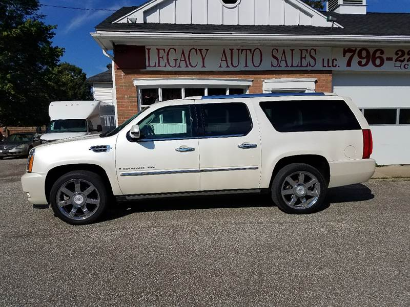 2008 Cadillac Escalade ESV for sale at LEGACY AUTO SALES in Waterford PA