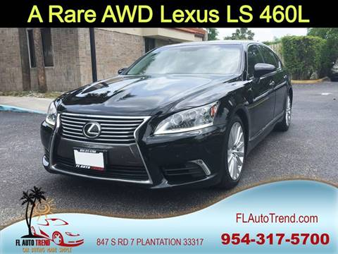 2013 Lexus LS 460 for sale at Florida Auto Trend in Plantation FL