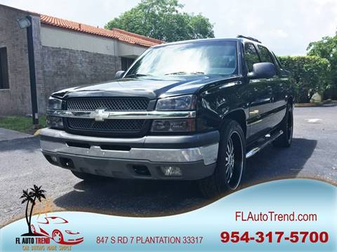 2003 Chevrolet Avalanche for sale at Florida Auto Trend in Plantation FL