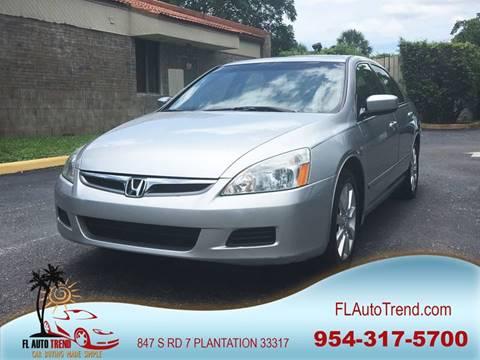 2006 Honda Accord for sale at Florida Auto Trend in Plantation FL