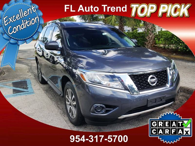 2013 Nissan Pathfinder Sv In Plantation Fl Florida Auto Trend